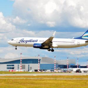 Открытка для посткроссинга «Boeing 737-86N»