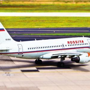 Открытка для посткроссинга «Airbus A319-100»