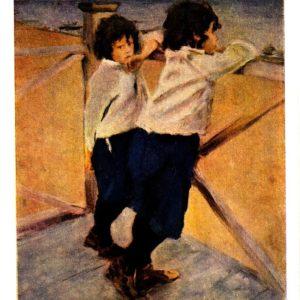 Старая открытка Дети