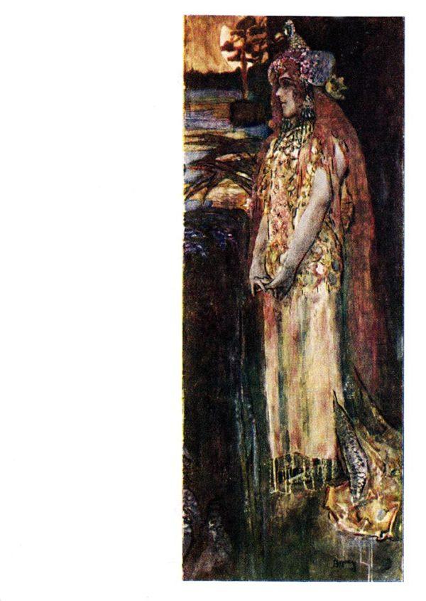 Старая открытка Царевна Волхова
