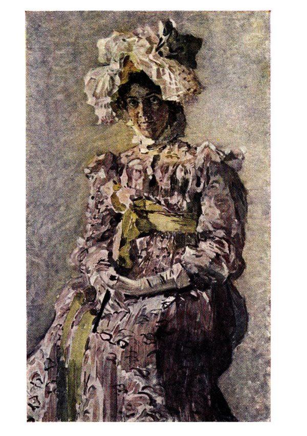Старая открытка Портрет артистки Н.И. Забелы-Врубель