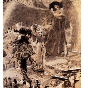 Старая открытка Пляска Тамары