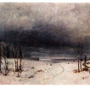 Старая открытка Зима