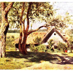 Старая открытка Пейзаж