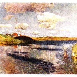 Старая открытка Озеро