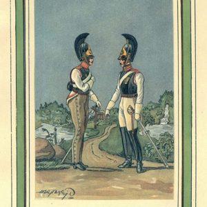 Открытка для посткроссинга «Рядовые Кирасирского и Конного полков»