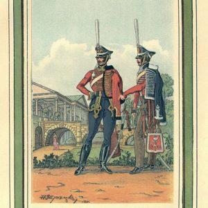 Открытка для посткроссинга «Рядовые Гусарских полков»