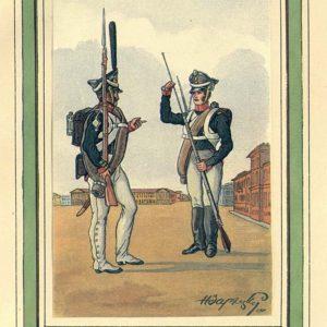 Открытка для посткроссинга «Гренадер и мушкетер»