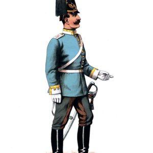 Открытка для посткроссинга «Унтер-офицер драгун»