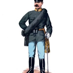 Открытка для посткроссинга «Офицер пехоты»