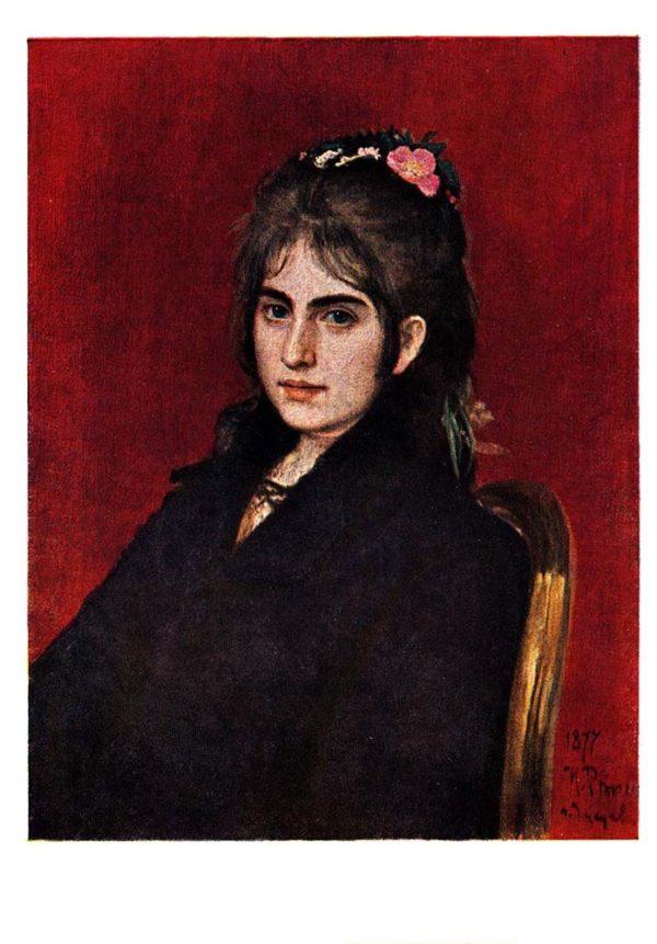 Старая открытка Портрет С.Любицкой