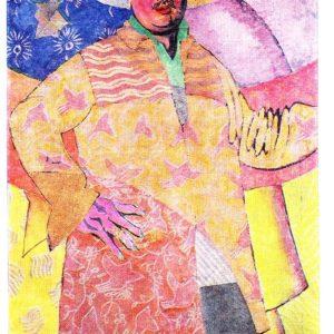 Старая открытка Автопортрет