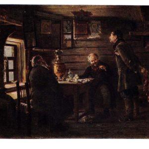 Старая открытка Любители соловьев