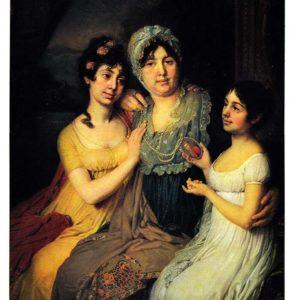 Портрет Анны Ивановны Безбородко с дочерьми