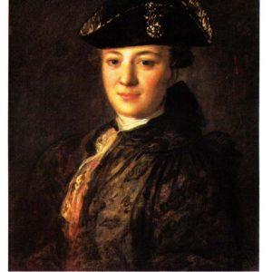 Старая открытка «Портрет неизвестного в треуголке»