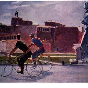 Итальянские рабочие на велосипедах