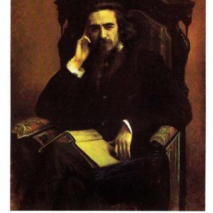 Портрет философа и поэта Владимира Сергеевича Соловьева