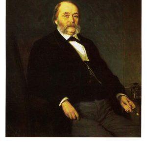 Портрет писателя Ивана Александровича Гончарова