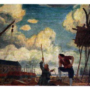 Открытка «Петр Великий в Голландии»