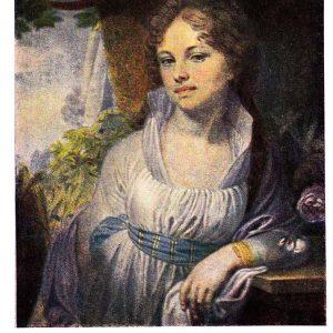 Старая открытка «Портрет М.И.Лопухиной»