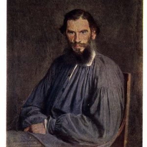Старая открытка «Портрет писателя Льва Николаевича Толстого»