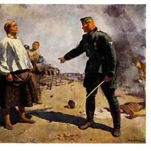 Старая открытка «Мать партизана»