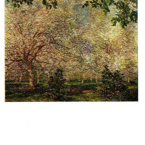 Старая открытка «Пчелы звенят»