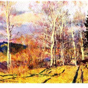 Старая открытка «Снова весна»