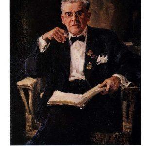 Старая открытка «Портрет И. М. Москвина»