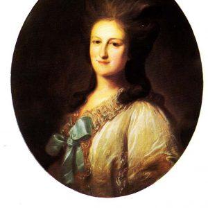 Старая открытка «Портрет Варвары Ермолаевны Новосильцевой»